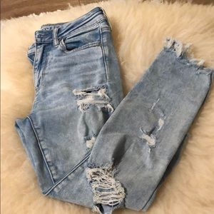 American Eagle Skinny Destroyed Jeans